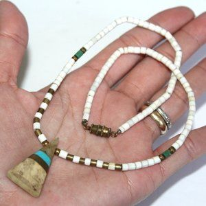Jewelry - OLD PAWN Santo Domingo Pueblo Hieshi Necklace FNC